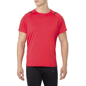 asics Icon Top Manga Corta Hombre, red alert/performance black